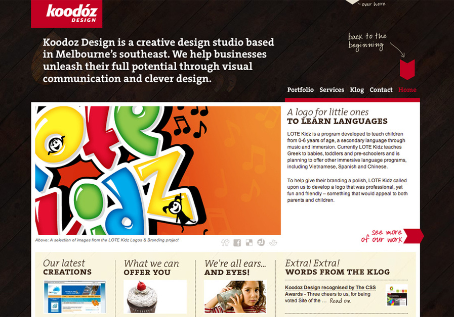 A great web design by Koodoz Design, Melbourne, Australia: