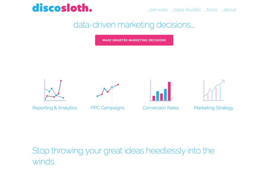 A great web design by Discosloth, Little Rock, AR: