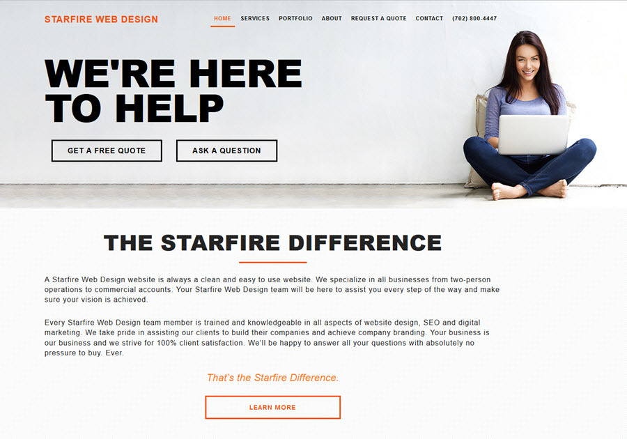 A great web design by Starfire Web Design, Las Vegas, NV: Responsive Website, Marketing