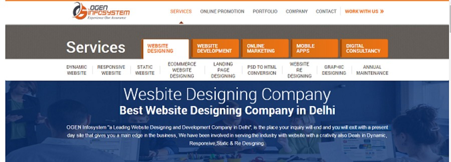 A great web design by OGEN Infosystem Private Limited, Delhi, India:
