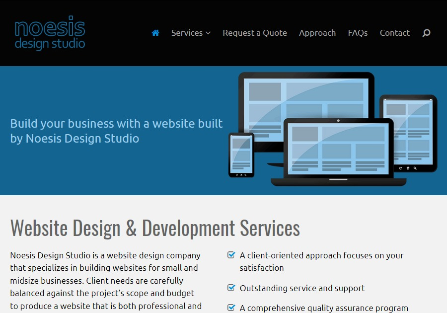 A great web design by Noesis Design Studio, Pittsburgh, PA: