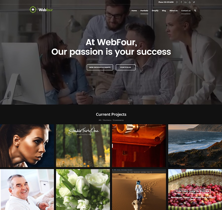 A great web design by Richard Weisskopf, Los Angeles, CA: