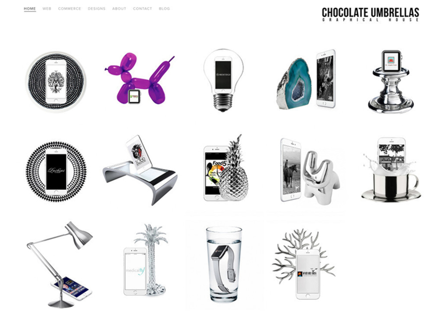 A great web design by Paula Mosica Chocolate Umbrellas Graphical House, Schöneweide, Germany: