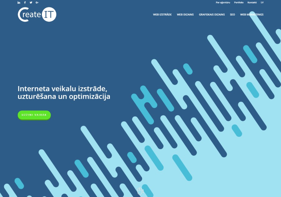 A great web design by CreateIT - Digital Agency, Riga, Latvia: