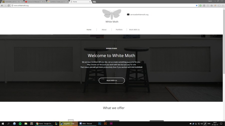 A great web design by White Moth, Athens, Greece: