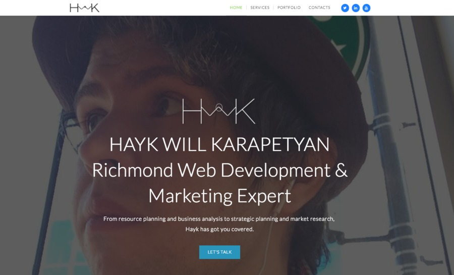 A great web design by Hayk Karapetyan, Vancouver, Canada: Responsive Website, Portfolio , Wordpress