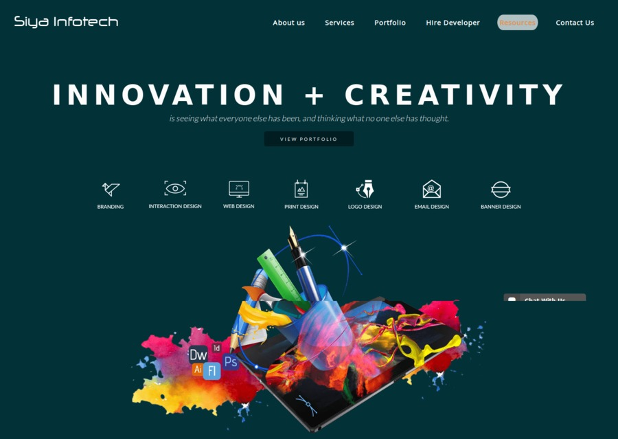 A great web design by Siya Infotech Solutions, Ahmedabad, India: