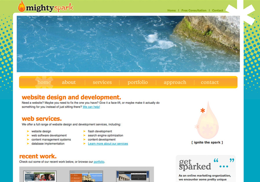 A great web design by Mightyspark Industries, Washington DC, DC: