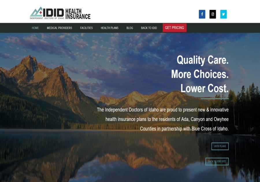 A great web design by WebMarkets Internet Marketing, Boise, ID: