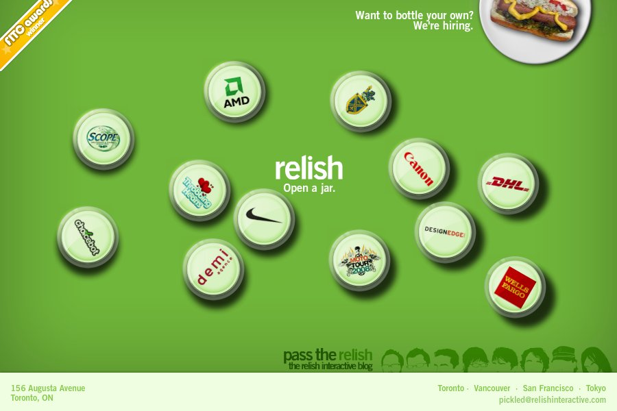 A great web design by Relish Interactive, Toronto, Canada: