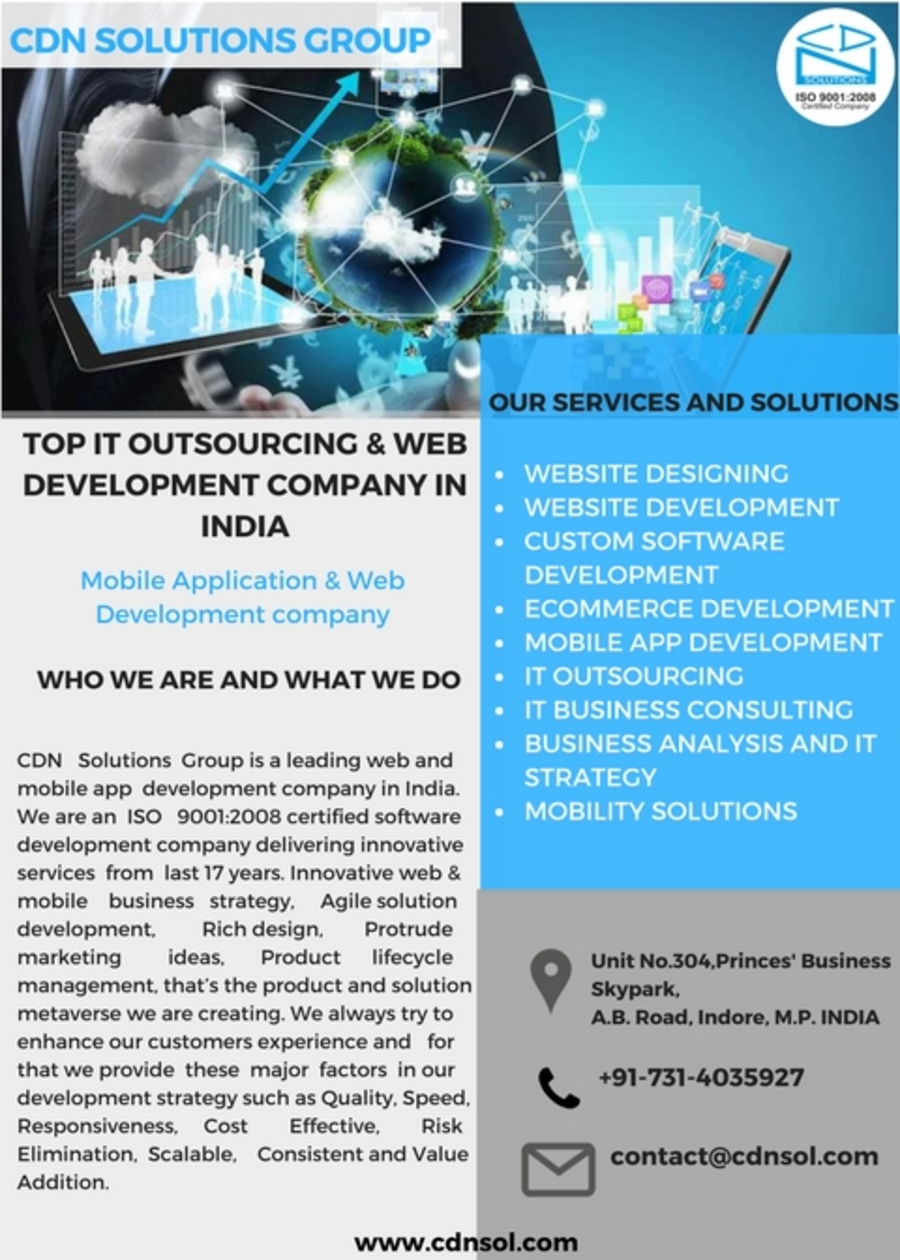 A great web design by CDN Solutions Group, Indore, India: