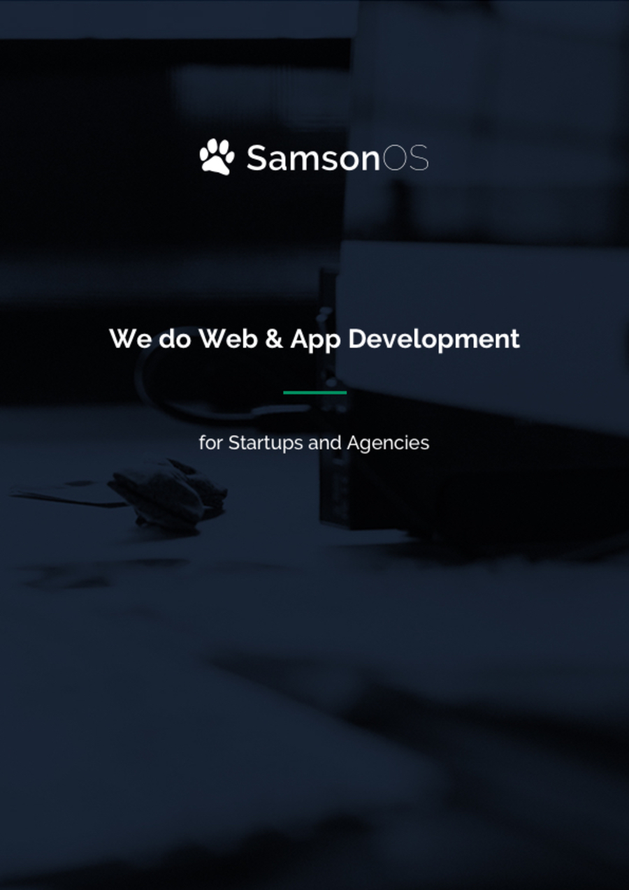 A great web design by SamsonOS, Kyiv, Ukraine: