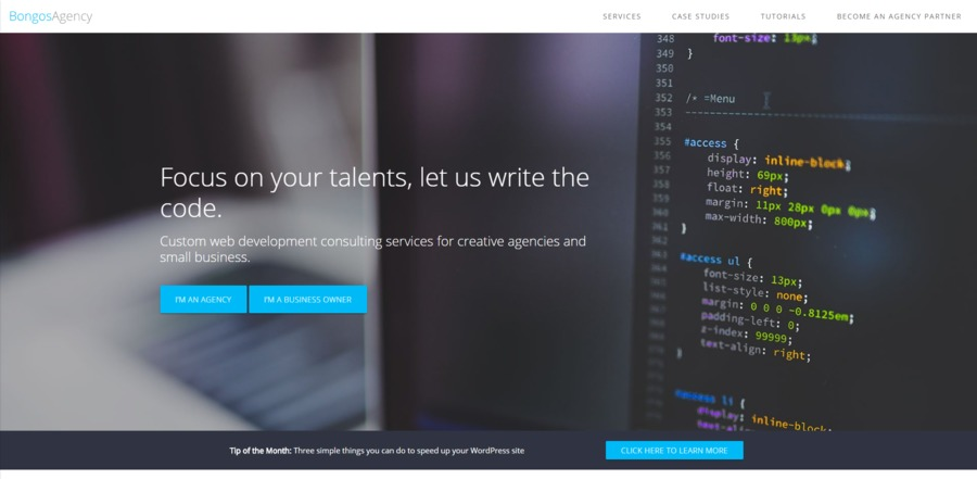 A great web design by Bongos Agency, New York, NY: