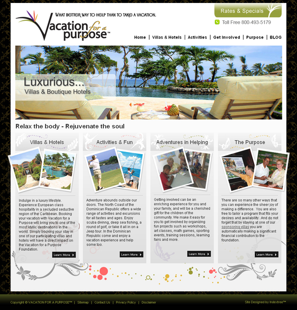 A great web design by Indextree, Inc., Chicago, IL: