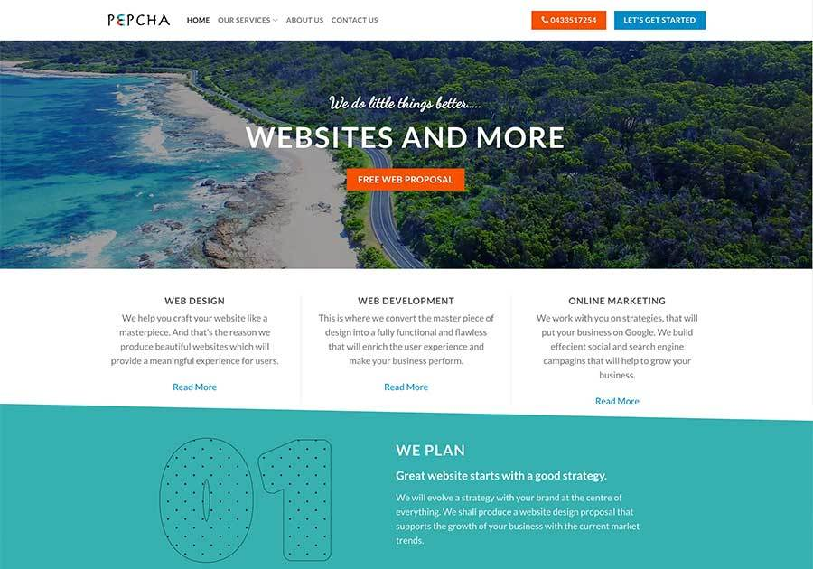 A great web design by Pepcha, Melbourne, Australia: