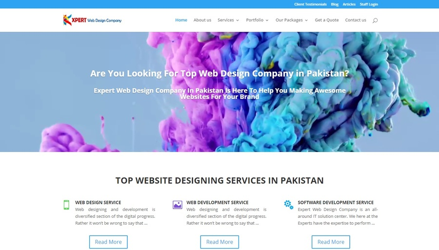 A great web design by Expert Web Design Company, Karachi, Pakistan: