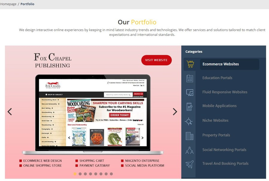 A great web design by The Brihaspati Infotech, Mohali, India: