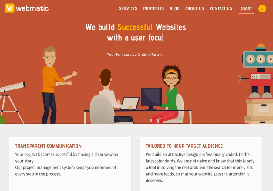 A great web design by Webmatic, Brussels, Belgium: