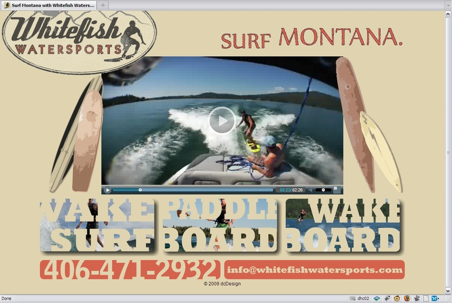 A great web design by dcDesign, Whitefish, MT: