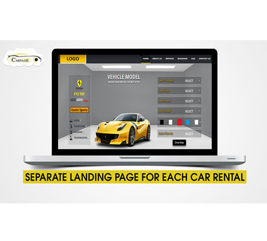 A great web design by Car Yaati, Dubai, United Arab Emirates: