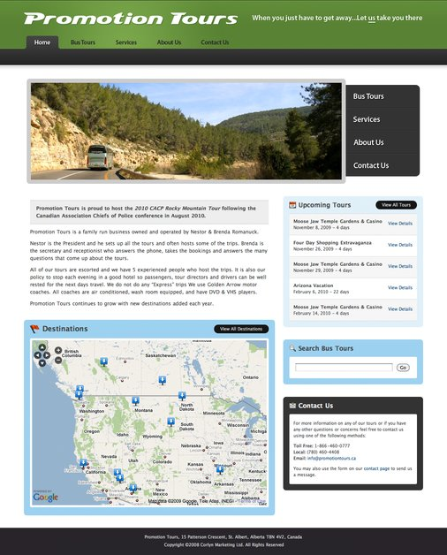 A great web design by Jeff Smith, Amherst, Canada: