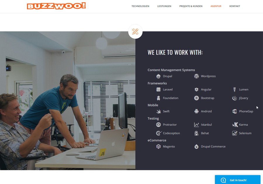 A great web design by Buzzwoo!, Stuttgart, Germany: