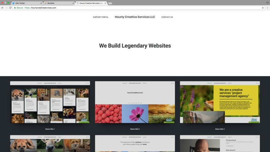 A great web design by Hourly Creative Services LLC, Portland, ME: