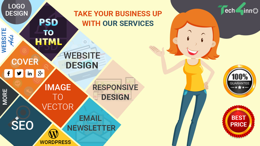 A great web design by Tech4Inno Solutions, Ahmedabad, India: