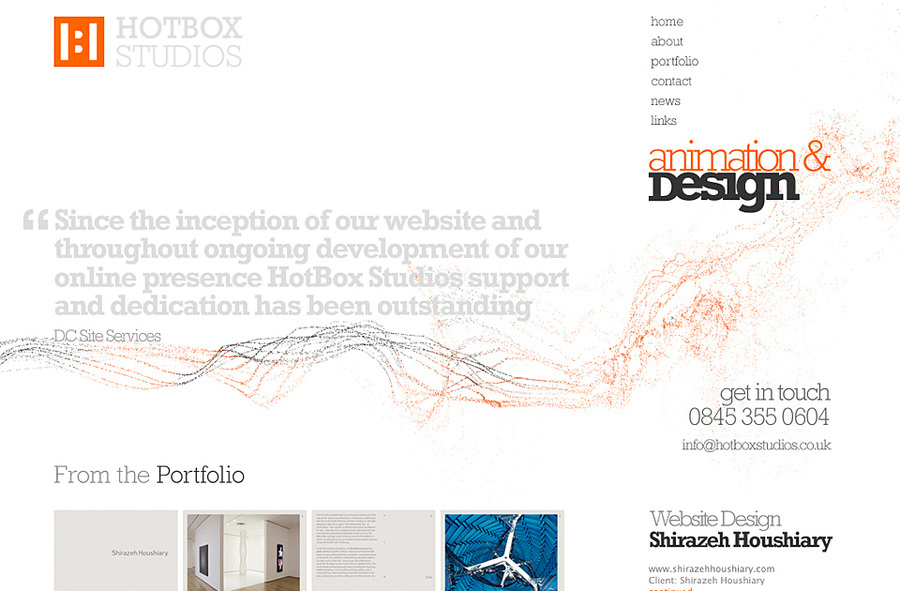 A great web design by Hotbox Studios, Hampshire, United Kingdom: