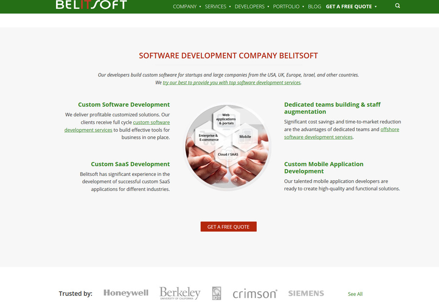 A great web design by Belitsoft PHP Development Company, New York City, VT: Responsive Website, Marketing Website , Software , PHP