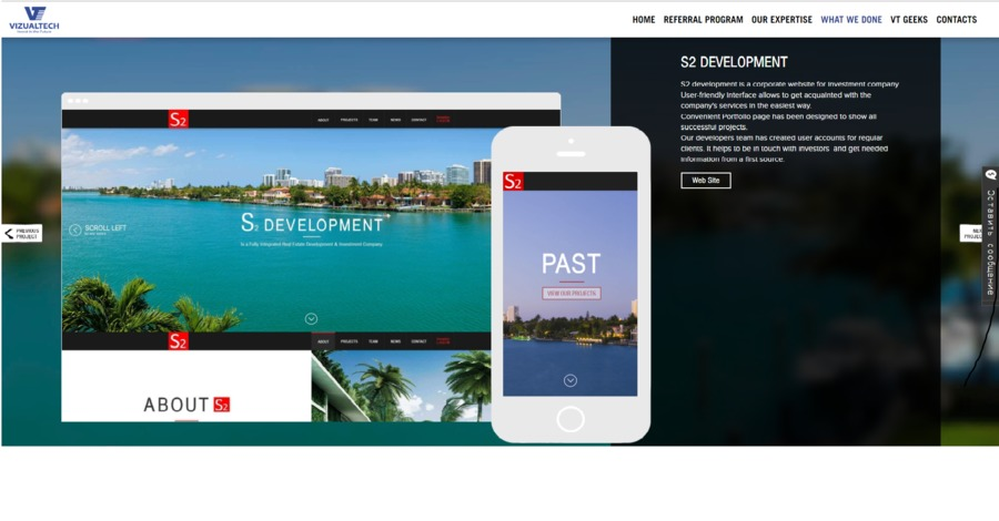 A great web design by VizualTech, Miami, FL: