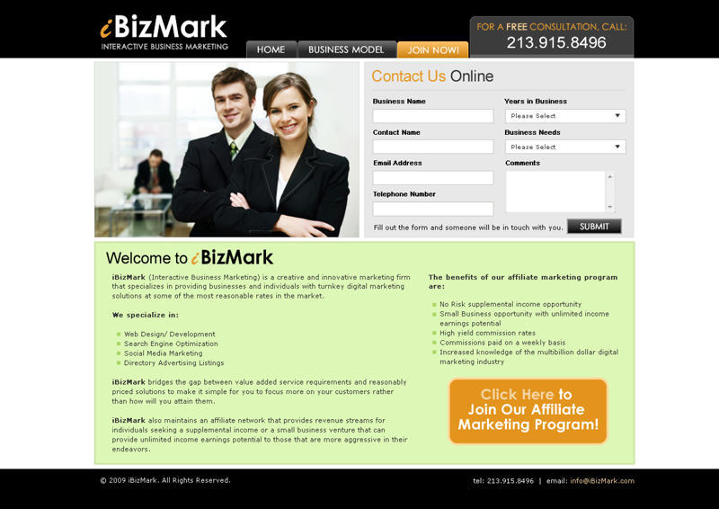 A great web design by iBizMark, Los Angeles, CA: