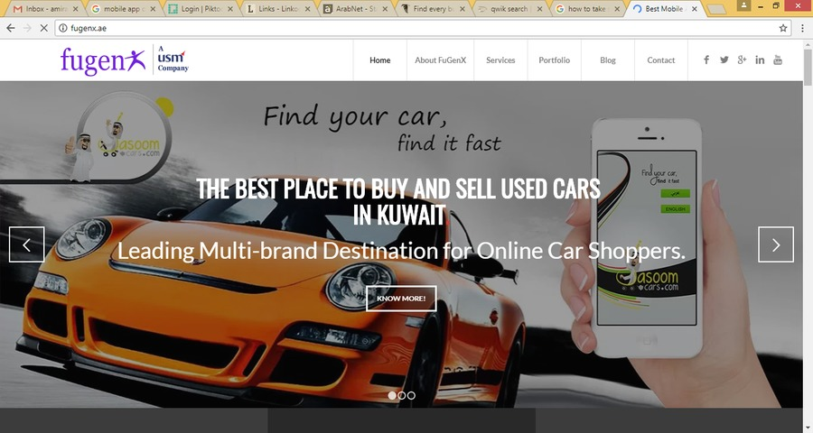 A great web design by FuGenX Technologies, Bangalore City, India:
