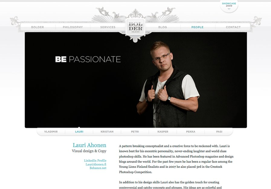 A great web design by Bolder Helsinki, Helsinki, Finland: