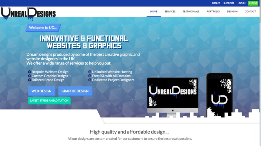 A great web design by Unreal Designs, London, United Kingdom: Responsive Website, Internet