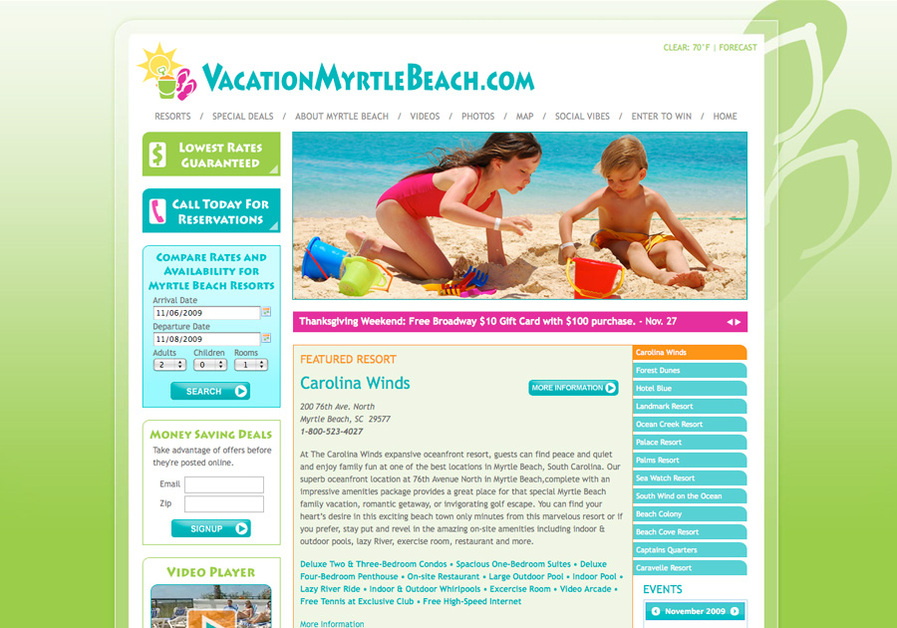 A great web design by Fuel Interactive, Myrtle Beach, SC:
