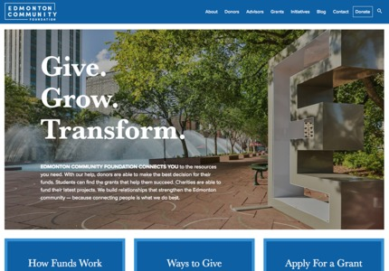 A great web design by Kick Point, Edmonton, Canada: Responsive Website, Marketing Website , Non Profit , Wordpress