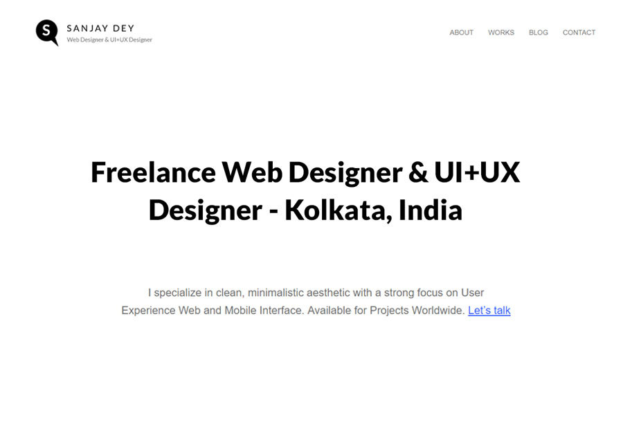 A great web design by Sanjay Dey - Freelance Web Designer, Kolkata, India: Responsive Website, Wordpress