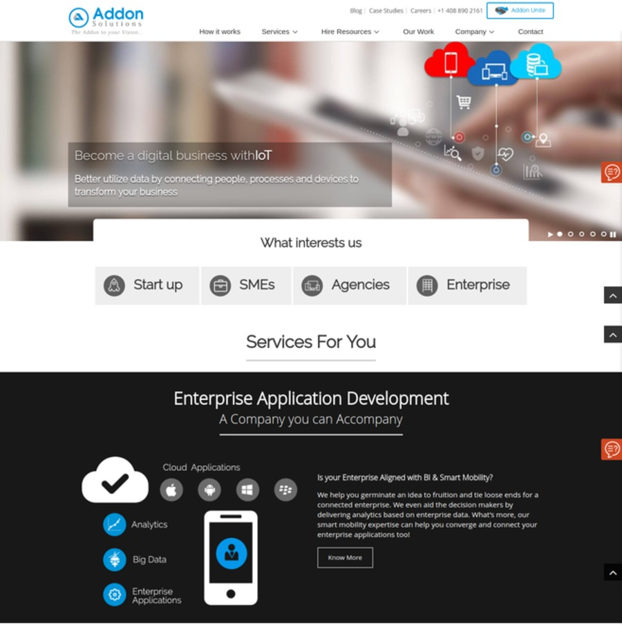 A great web design by Addon Solutions Pvt. Ltd., Ahmadabad, India: