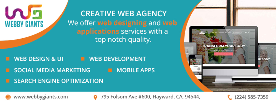 A great web design by Webby Giants - Website Development Company, Hayward, CA: