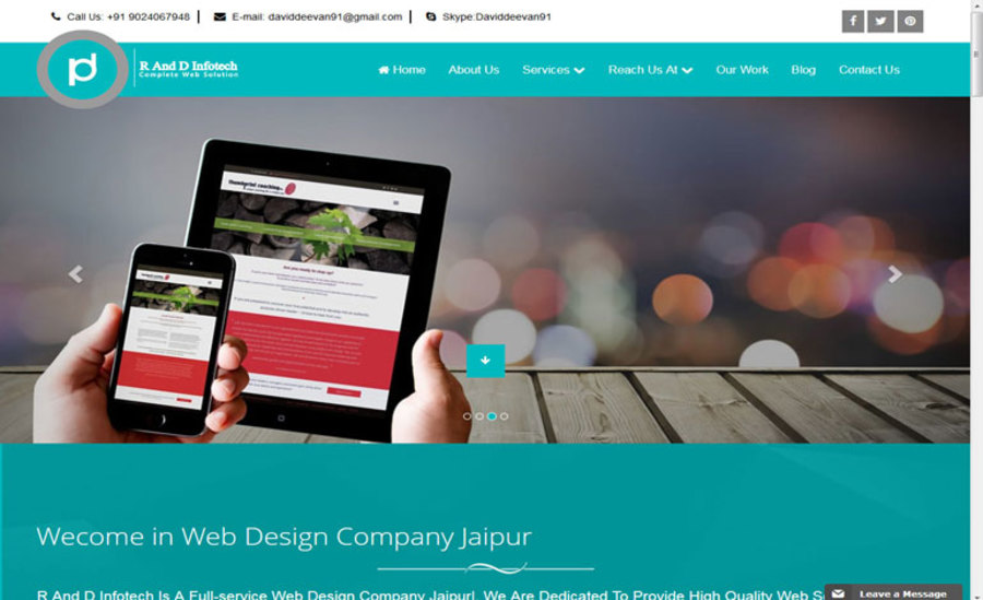 A great web design by R and D Infotech, India, UT: