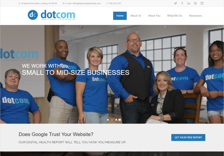A great web design by DotCom Global Media, Atlantic City, NJ: