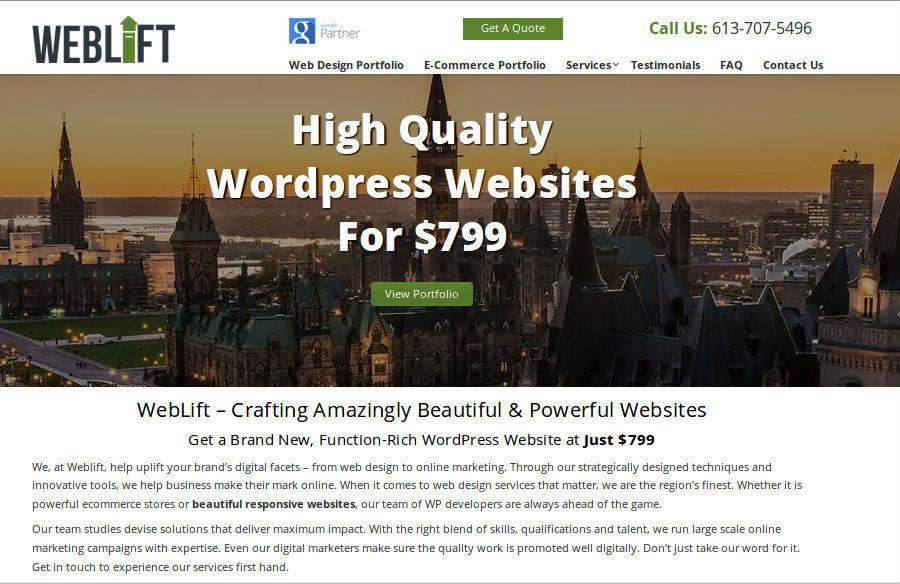 A great web design by Weblift, Ottawa, Canada: Responsive Website, Portfolio , Service , Wordpress