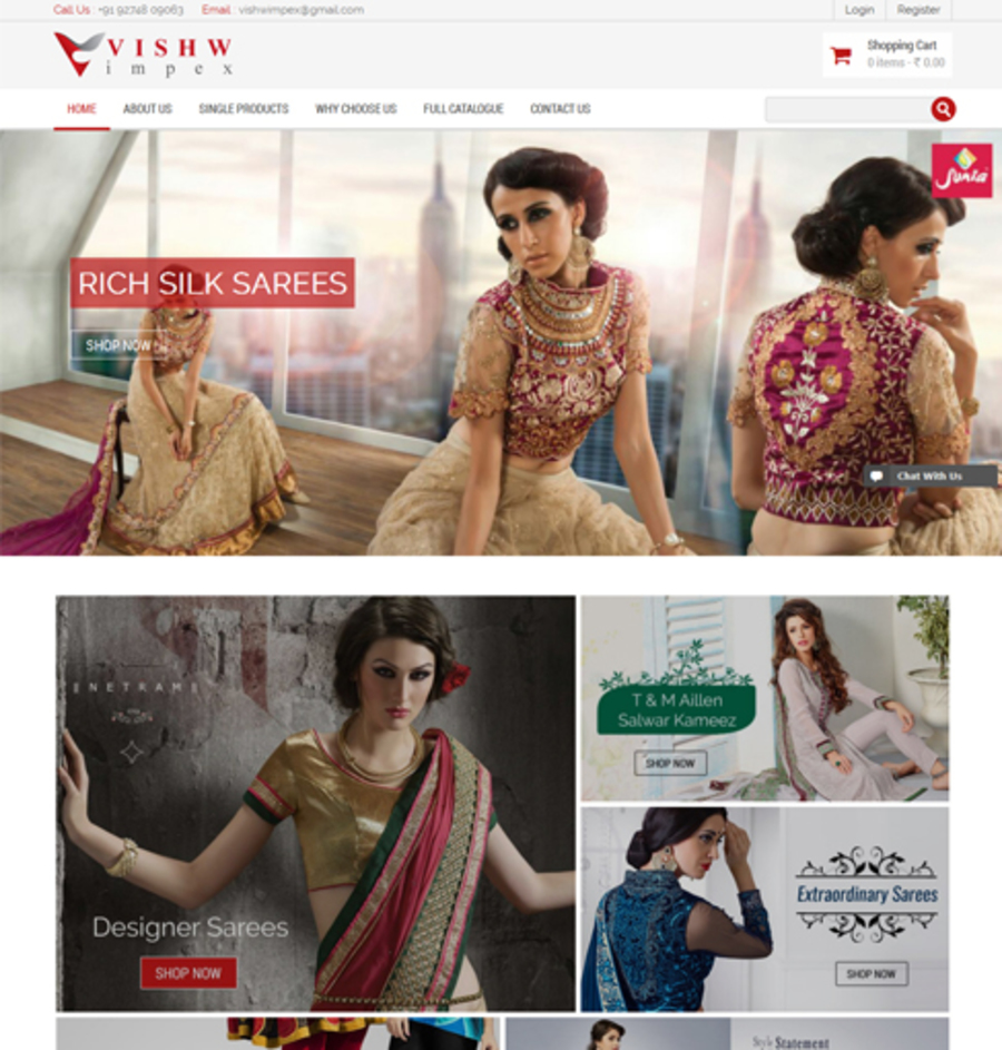 A great web design by Param Web Designs, Rajkot, India: Responsive Website, E-Commerce , Fashion , PHP