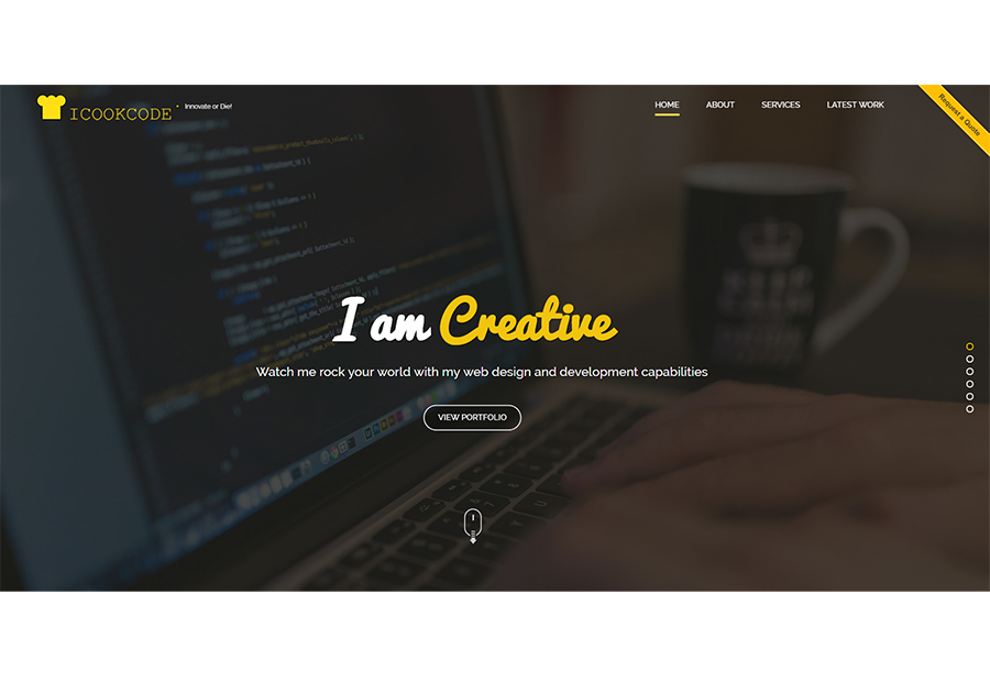 A great web design by ICOOKCODE, Jaipur, India: