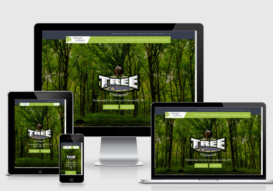 A great web design by Blue Collar Designs, Knoxville, TN: