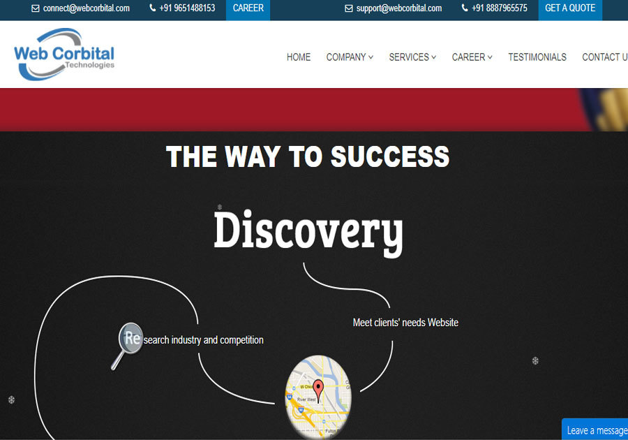 A great web design by Webcorbital Technologies, Varanasi, OK: