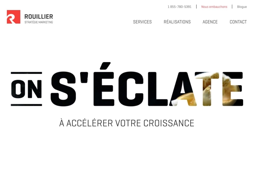 A great web design by Rouillier Stratégie Marketing, Quebec, Canada: