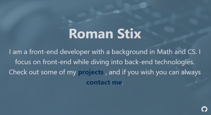 A great web design by RomanStix, Vancouver, Canada: