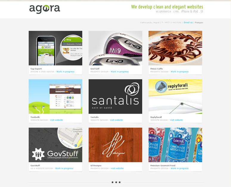 A great web design by Agora Creative Agency, Kathmandu, Nepal: